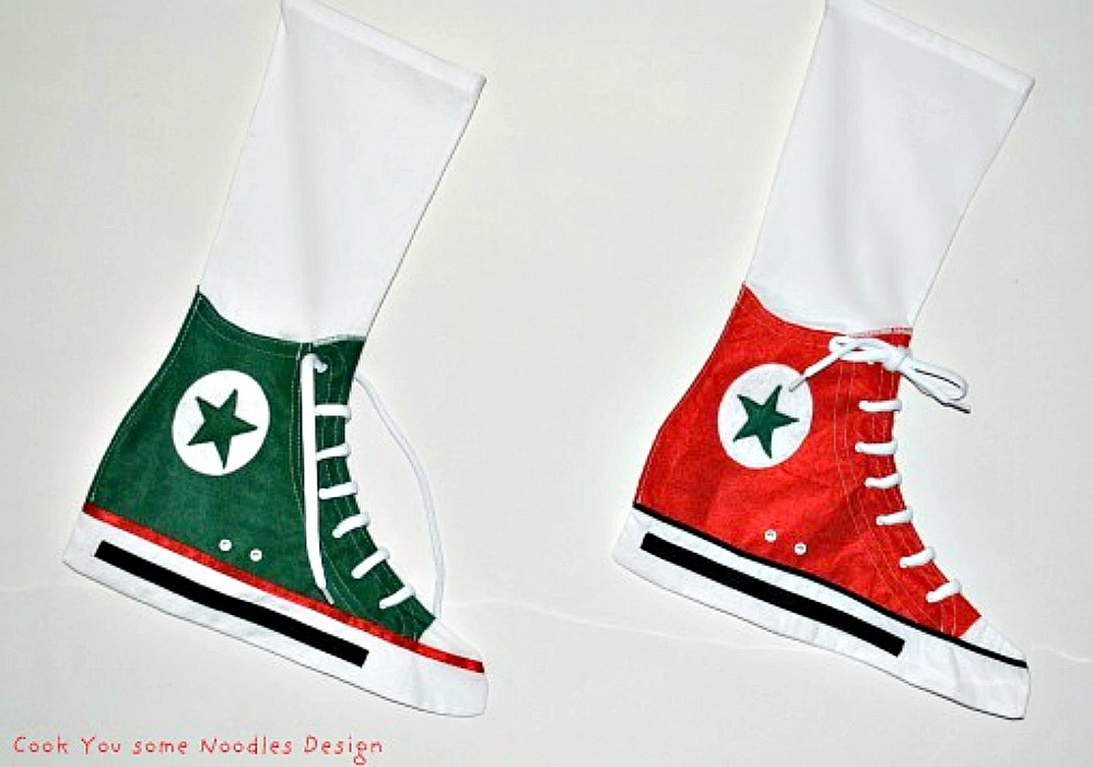 Converse Style Christmas Stockings